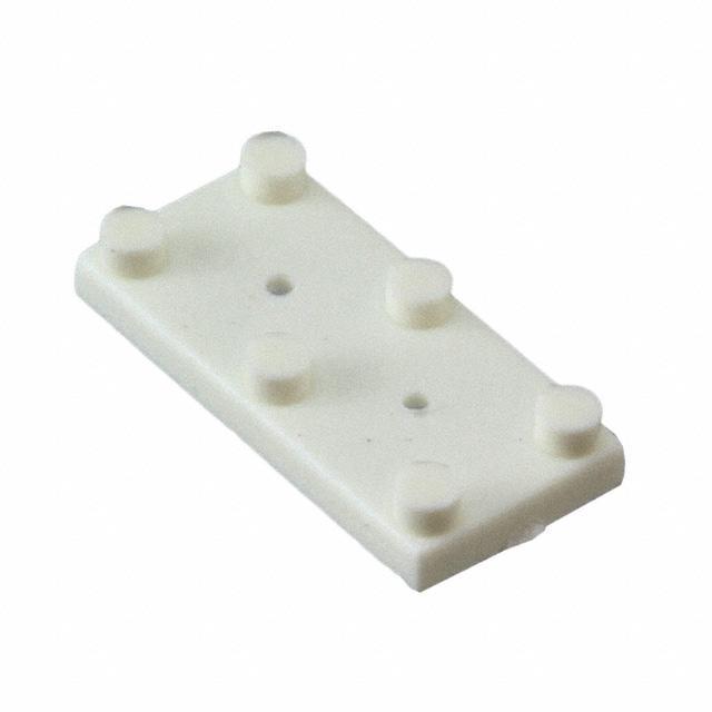HDWR INS TAB .495 X .245 NYL WHT - Bivar Inc. 470-025