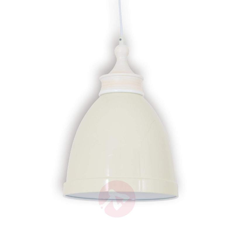 White metal hanging light Hevin - Pendant Lighting
