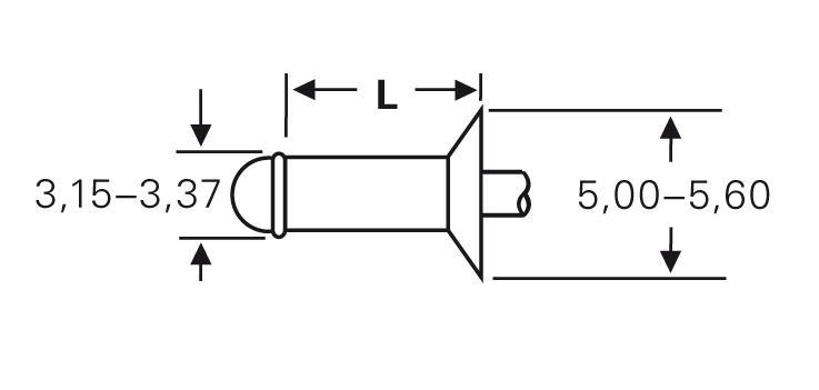Blind rivet technology - POP® - High-retention rivets - Countersunk 120°