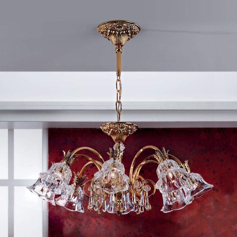 KAISA - lustre doré resplendissant 8 lumières - Lustres classiques,antiques