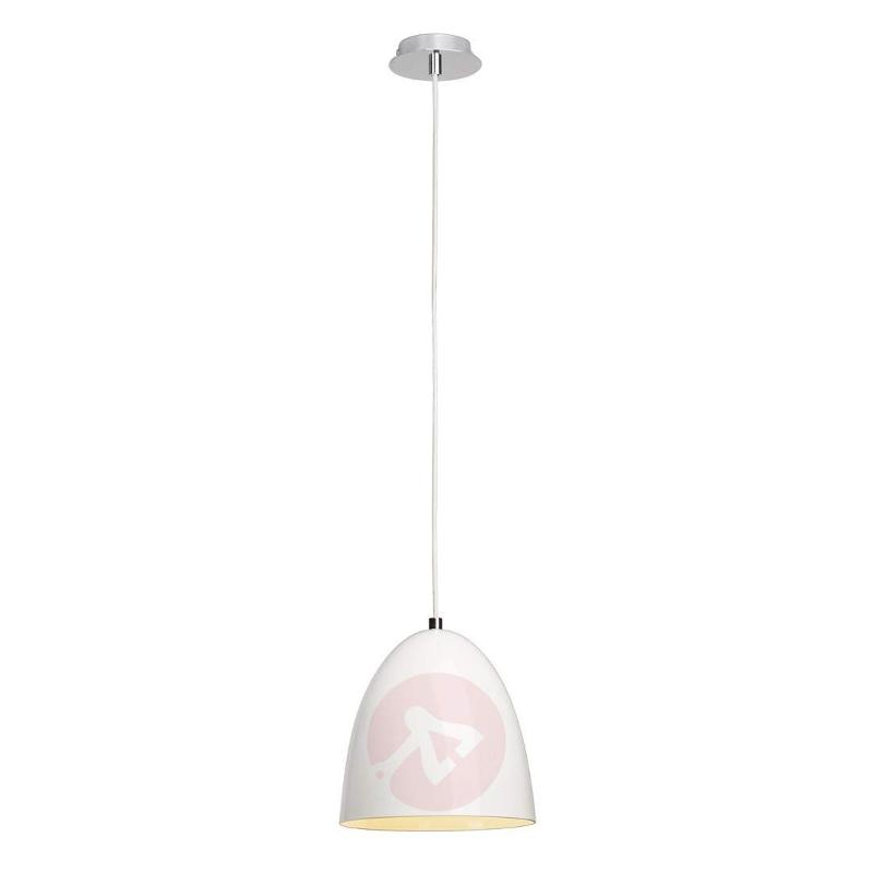 Para Cone 20 - glossy white hanging light - Pendant Lighting