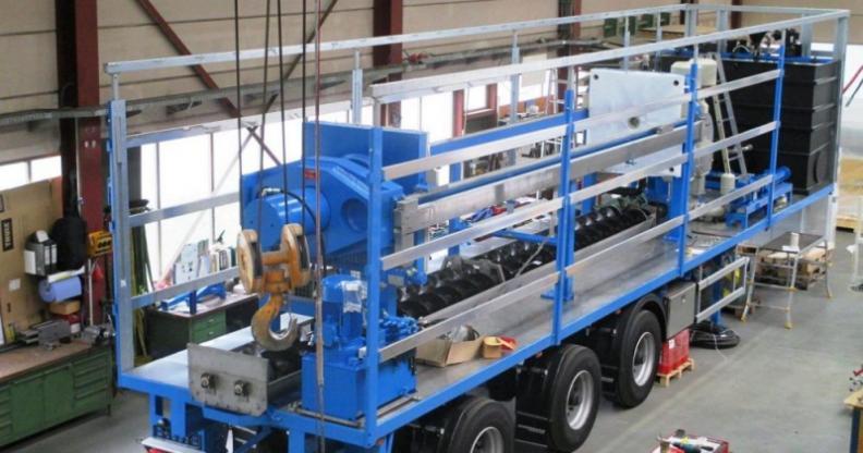 Filtro prensa móvil - El filtro prensa móvil - sistema completo para drenaje sin complicaciones