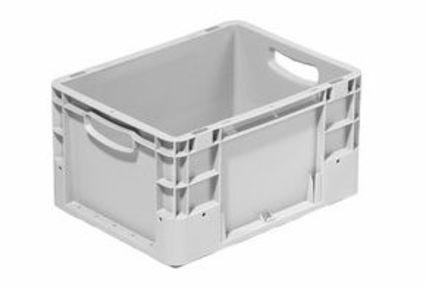 Industriebehälter klein geschlossen 400x300 mm silver - null