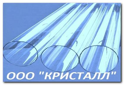 Кварцевая труба диаметром от 50 мм - Кварцевая труба из прозрачного кварцевого стекла
