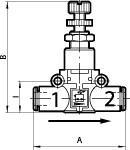 Pressure regulator lineonline , Hose - hose, for hose 8 mm - Pressure regulators, pipe - pipe