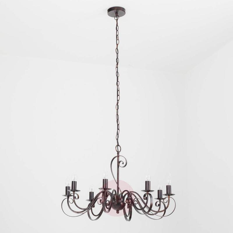 8-light chandelier Caleb in a country house style - Chandeliers