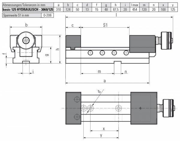 basic 125 HYDRAULISCH - Horizontal einsetzbar – große Variabilität und hohe Flexibilität