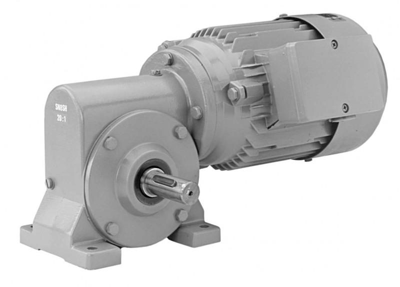 SN8SH - Single-stage gear drive with solid shaft