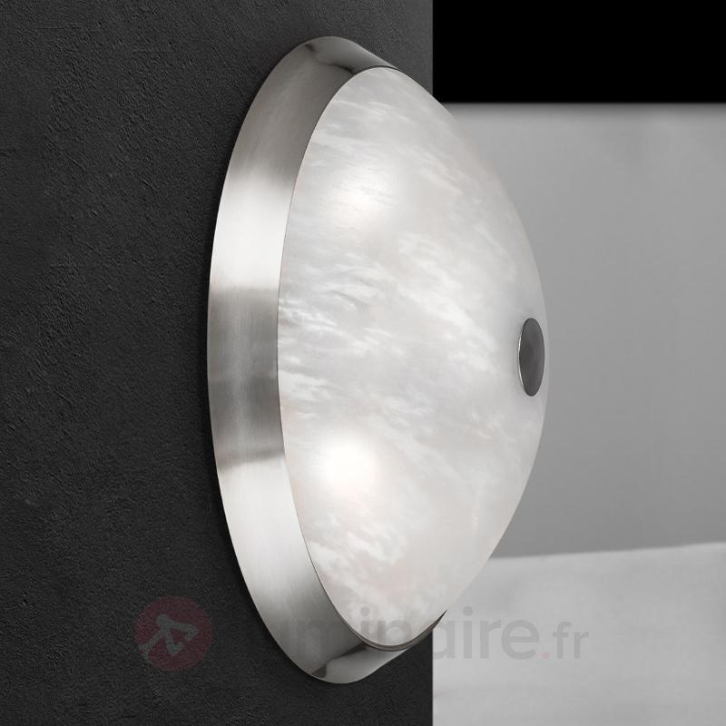 Plafonnier Jaya en nickel mat - Plafonniers chromés/nickel/inox