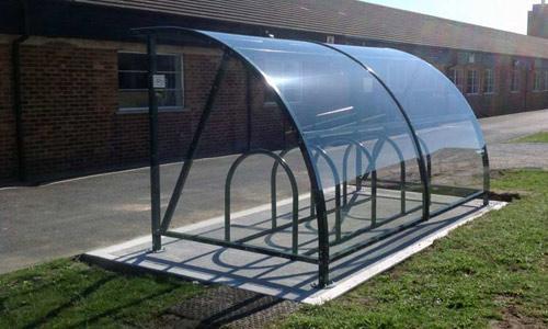 Cycle shelter - Semi circle shelter