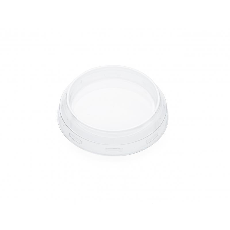 24 Caps diameter 60 mm out of transparent plastic - for jar