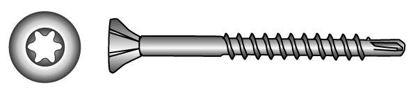 TOB-Drill Seko-Holzbauschrauben, TX-Innensechsrund-Antrieb - Material A2