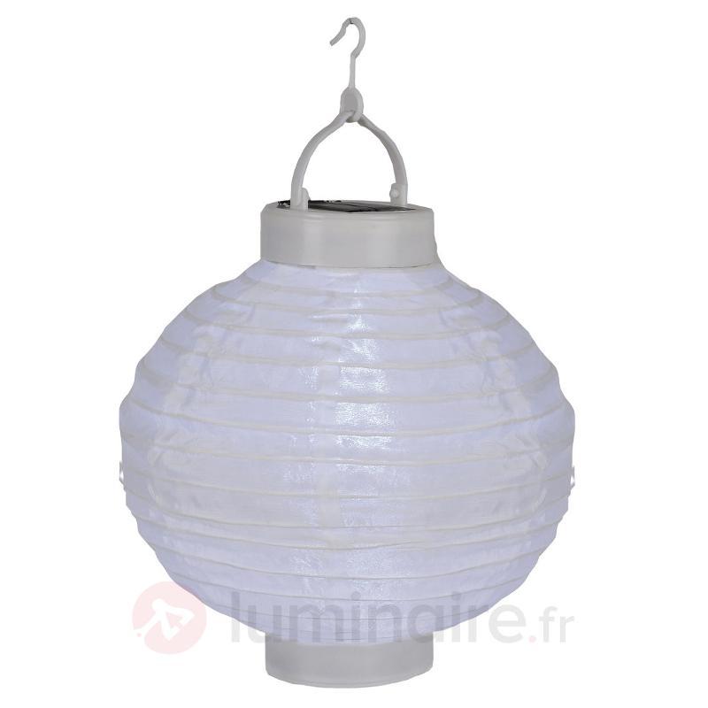 Lampion solaire LED Jumor en blanc, Ø 30 cm