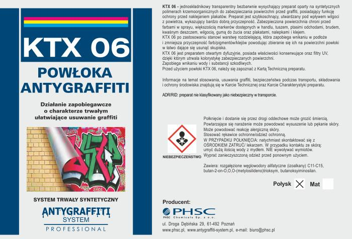 KTX 06 Powłoka Antygraffiti  -