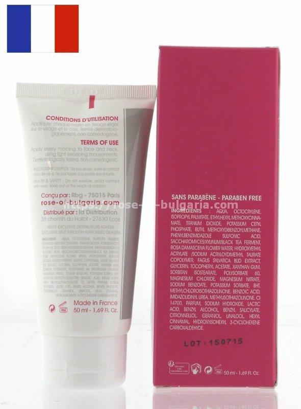 Crème éclaircissante naturelle à l'eau de rose - Crème 3 en 1 antiage et éclaircissante