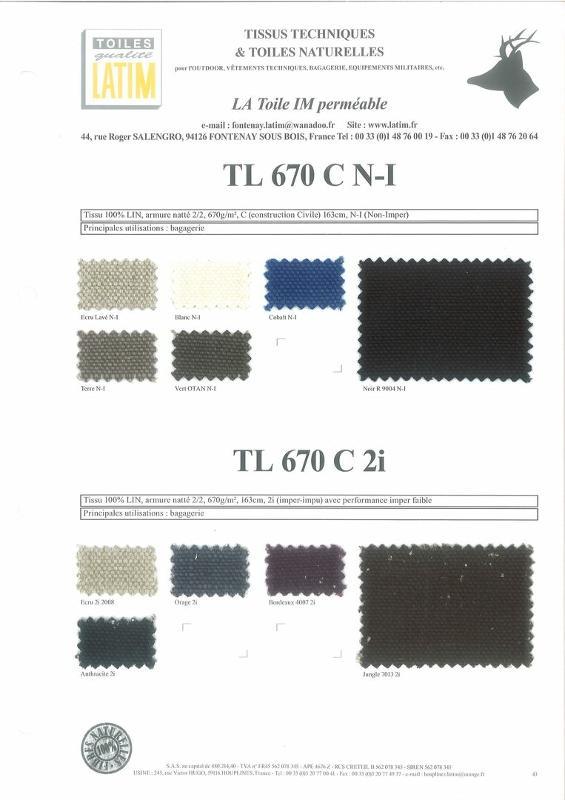 TL 670 C N-I & TL 670 C 2i - Toiles naturelles