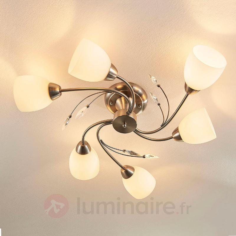 Plafonnier à six lampes Taras - Plafonniers classiques, antiques