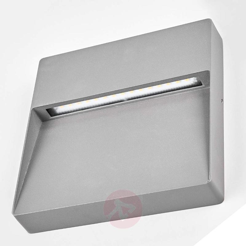 Square, dark grey LED outdoor wall lamp Karina - Outdoor Wall Lights