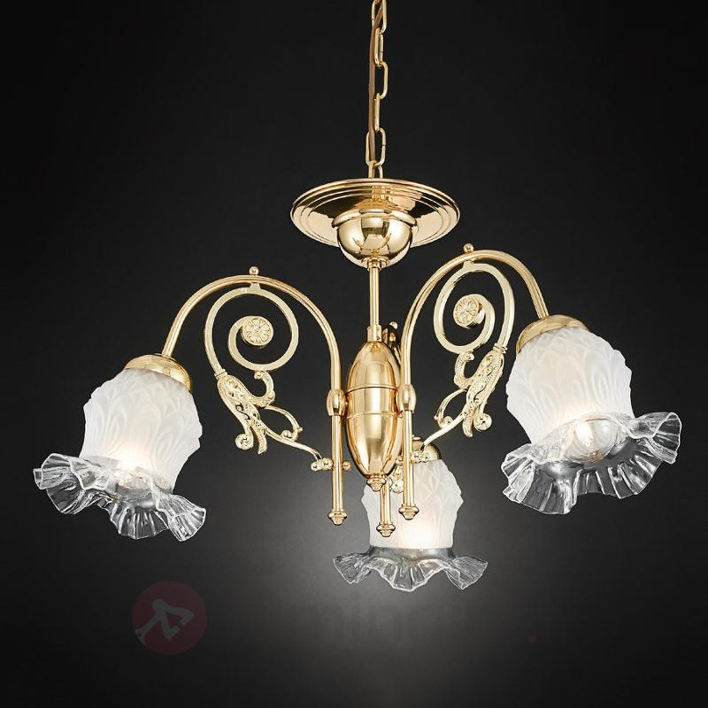Lustre Ringstrasse à 3 lampes, en laiton - Lustres classiques,antiques