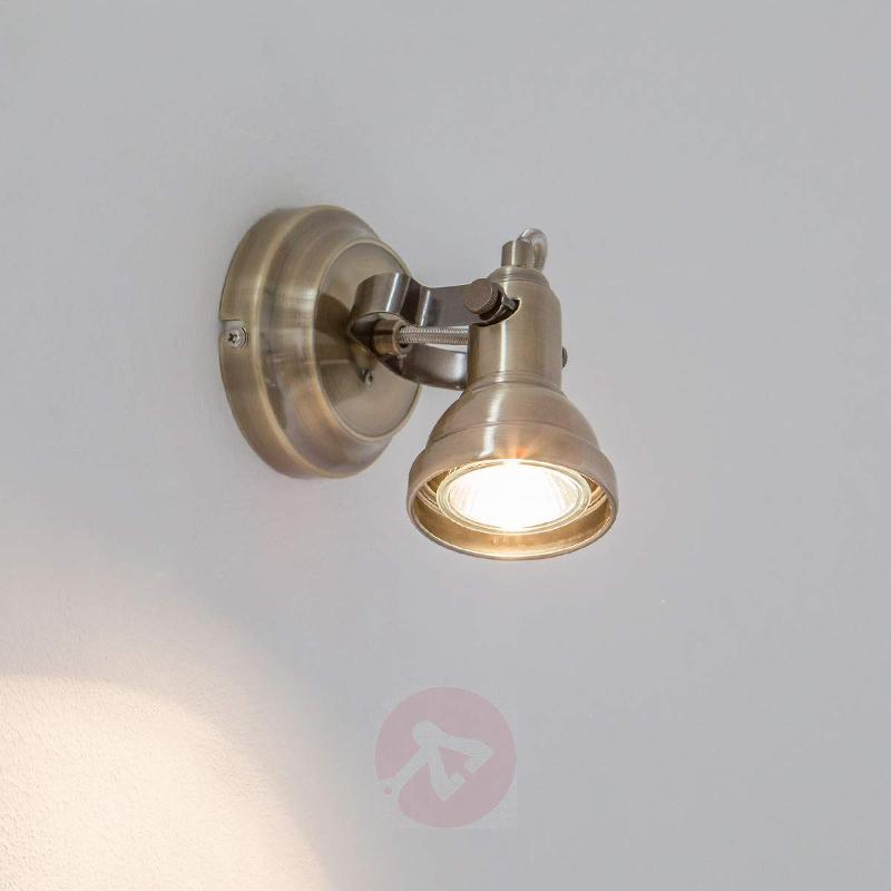 Perseas LED wall spotlight, antique brass - Ceiling Lights