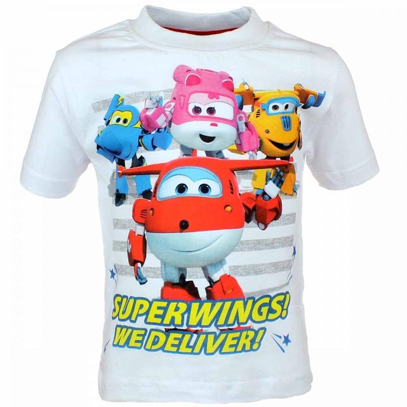 10x T-shirts manches courtes Super Wings du 2 au 6 ans - T-shirt et polo manches courtes