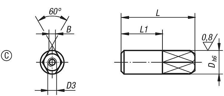 Goupille de positionnement extractible formes A et C - Éléments de positionnement