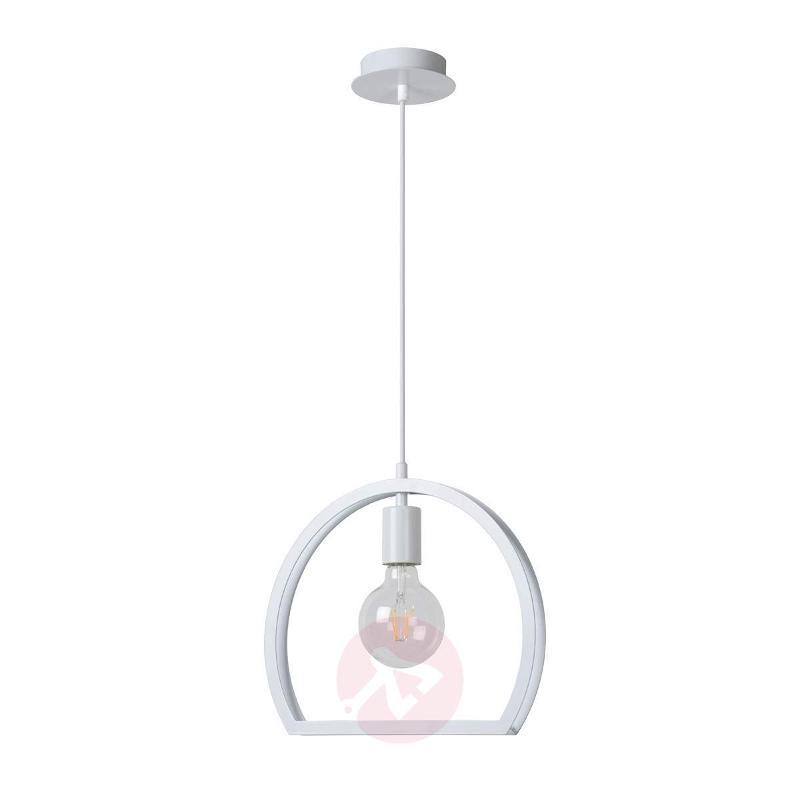 Modern, white Contour hanging light - Pendant Lighting