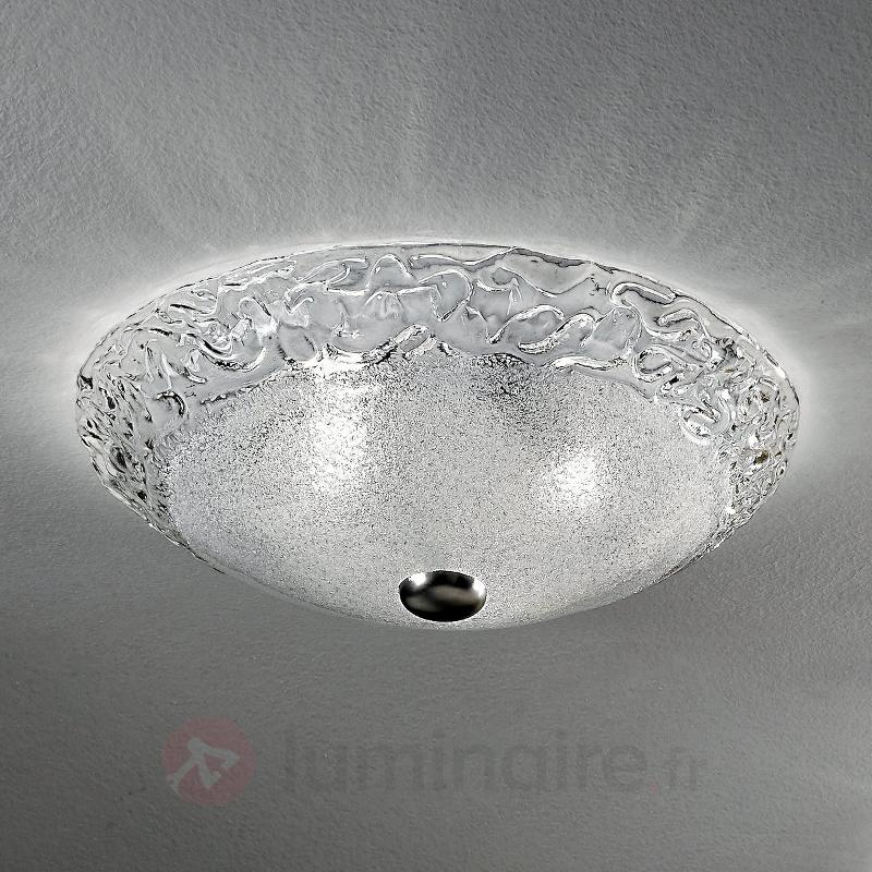 Plafonnier Finnja avec un bel aspect de glace - Plafonniers en verre