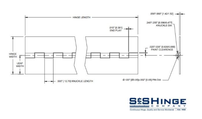 Hinges - 1150 Series - CAD files - 1161x96