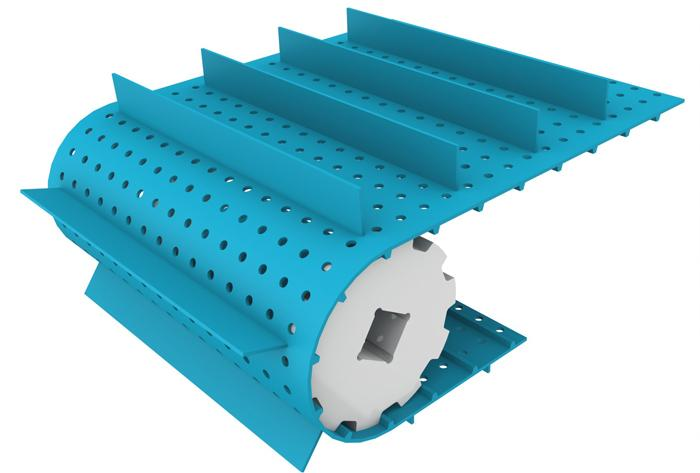 Profiles, sidewalls, scraper, perforations - Conveyor belts accessories