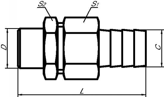 RACCORDS UNION À PORTÉE CONIQUE - LISSE / CANNELÉ INOX 316 L (5141)