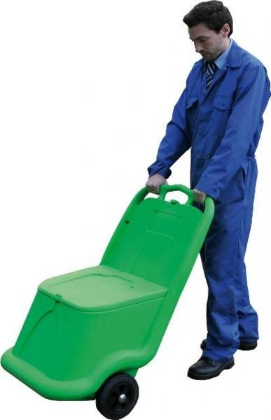 Bac à sel ou sable mobile vert 75 litres - Coffre et bac à sel, sable, absorbants