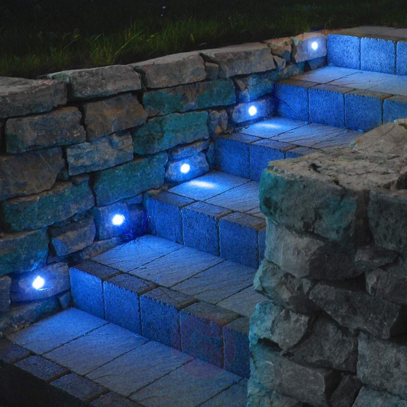 Set of 10 LED recessed lights Cosas, blue - outdoor-led-lights