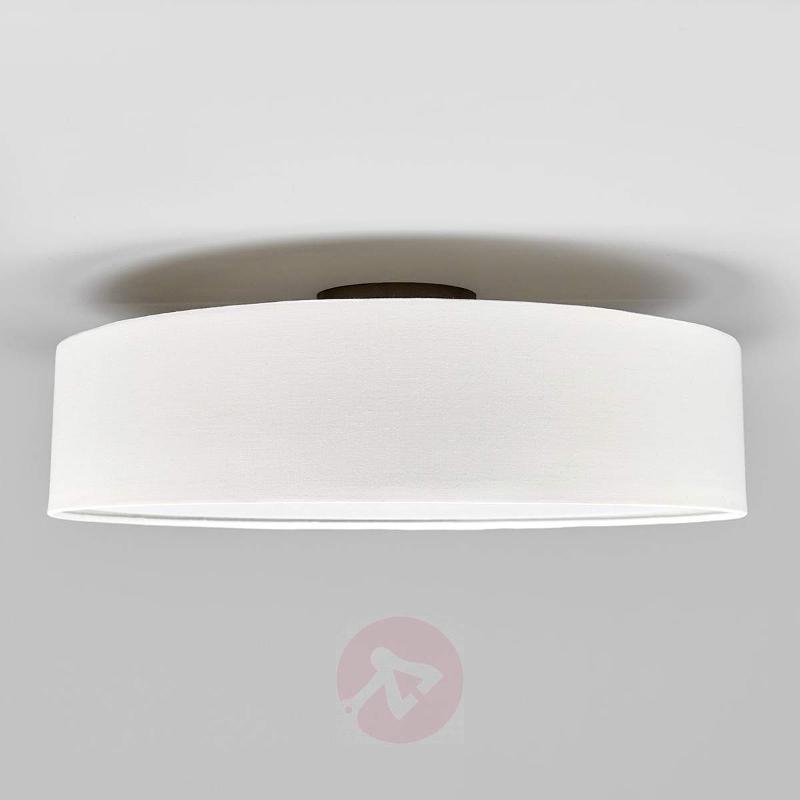 Cream-coloured fabric LED ceiling light Sebatin - Ceiling Lights