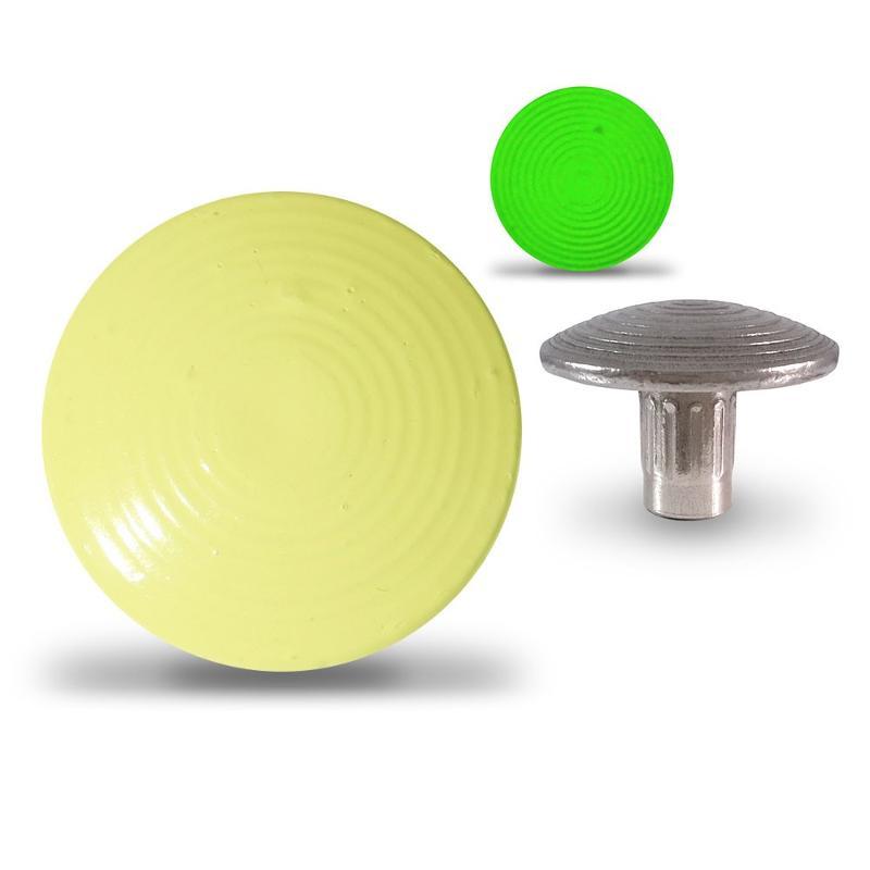 Clou podotactile en acier zingué - Photoluminescent -... - Accessibilité handicapé