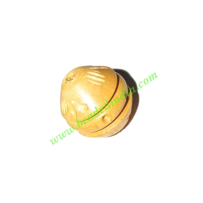 Natural Color Wooden Beads, size 15x16mm, weight approx 1.25 - Natural Color Wooden Beads, size 15x16mm, weight approx 1.25 grams