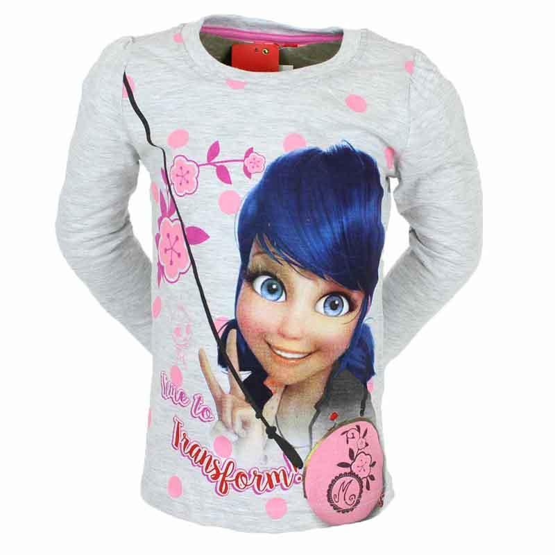 Großhandel kind kleidung T-shirt Miraculous - T-shirt und polo langarm