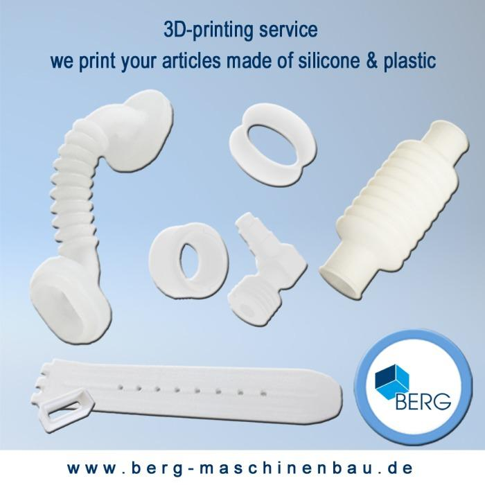 3d- printing service for silicone & plastic parts - we print your prototypes, models, samples, artworks in silicone & plastic