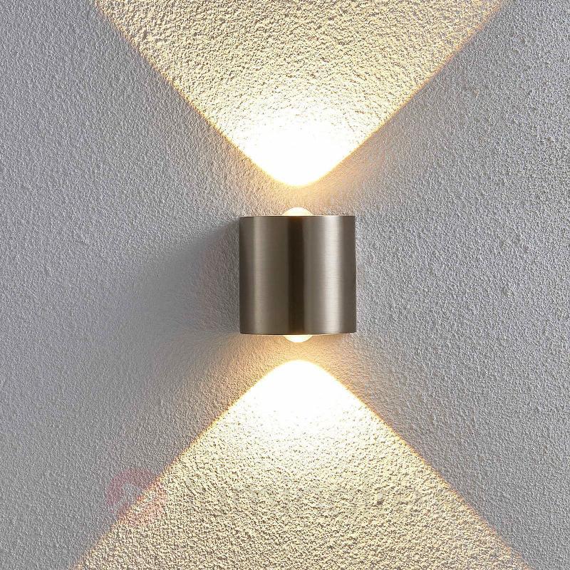 Applique LED en demi-sphère Lareen, nickel satiné - Appliques LED