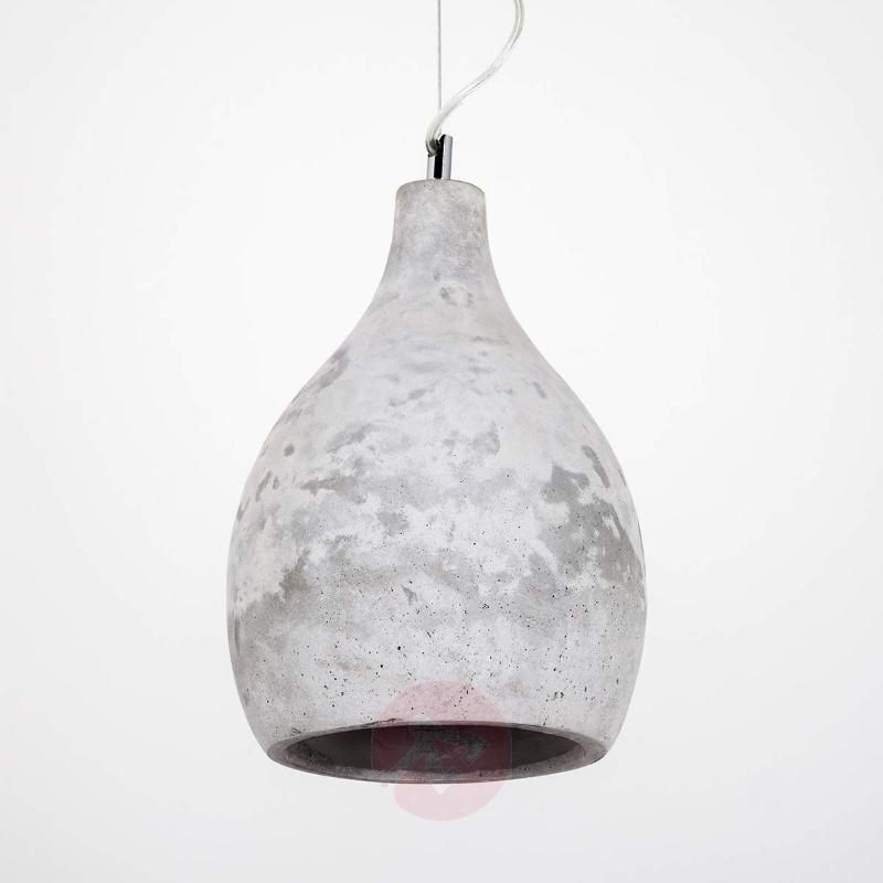 Hatice hanging light concrete grey - Pendant Lighting