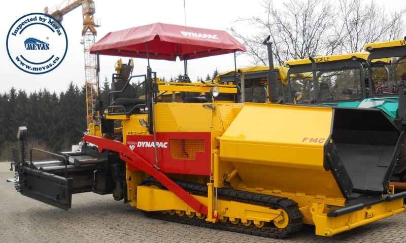 Inspección Maquinas Construcción de Carreteras - Peritajes para pavimentadora de asfalto, rodillos de asfalto, fresadoras