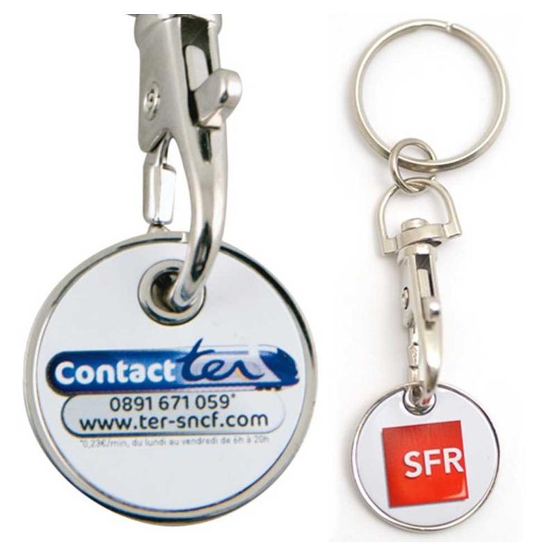 Porte-clés jeton quadri - Porte-clés métal
