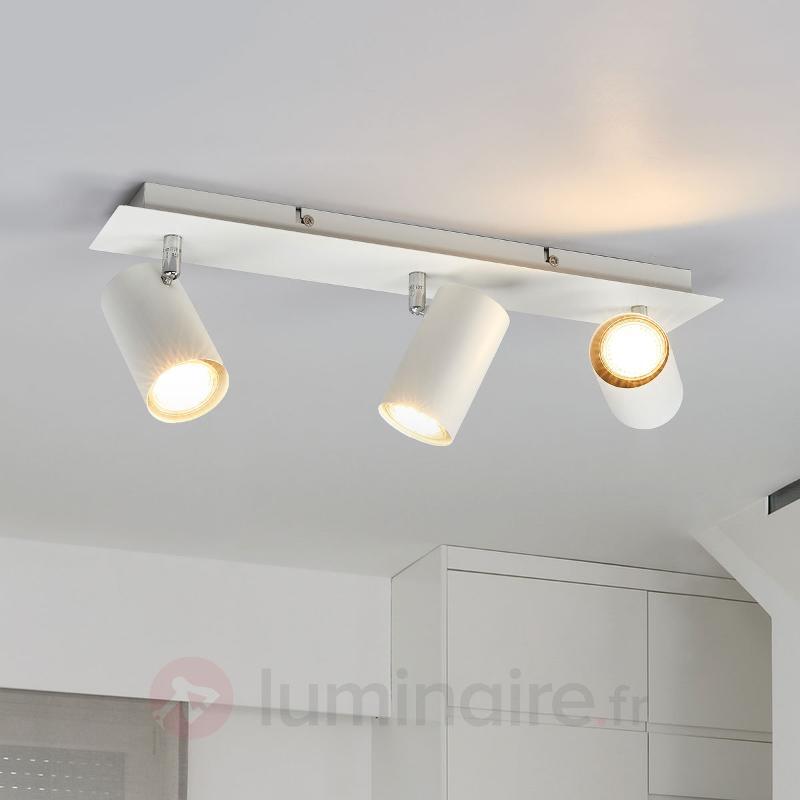 Spot halogène à Mia blanc, à 3 lampes - Spots et projecteurs halogènes