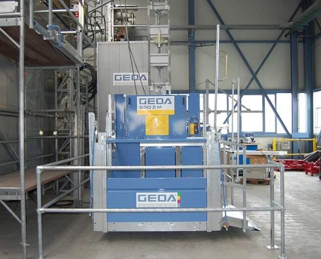 GEDA 850 ZM P - GEDA 850 ZM P - Materialaufzüge