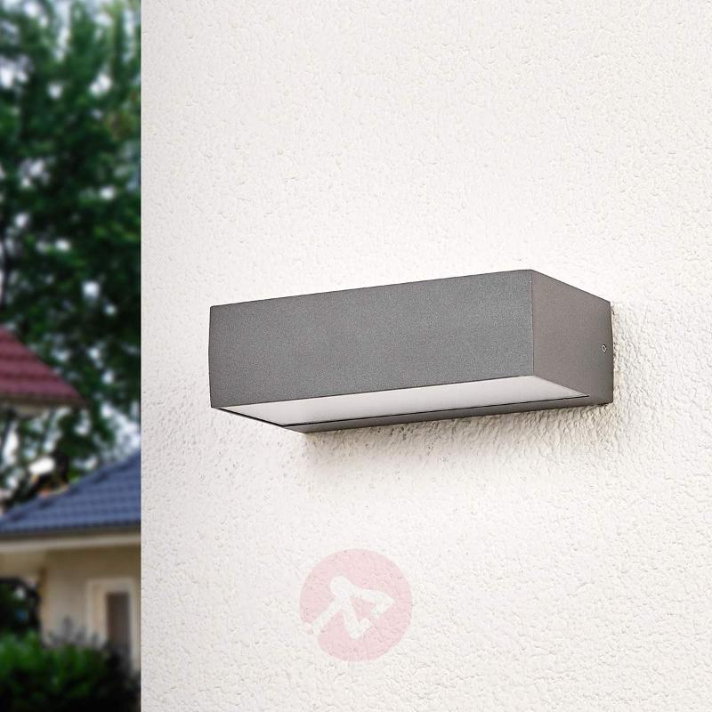 LED outdoor wall lamp Lissi with an angular shape - Outdoor Wall Lights