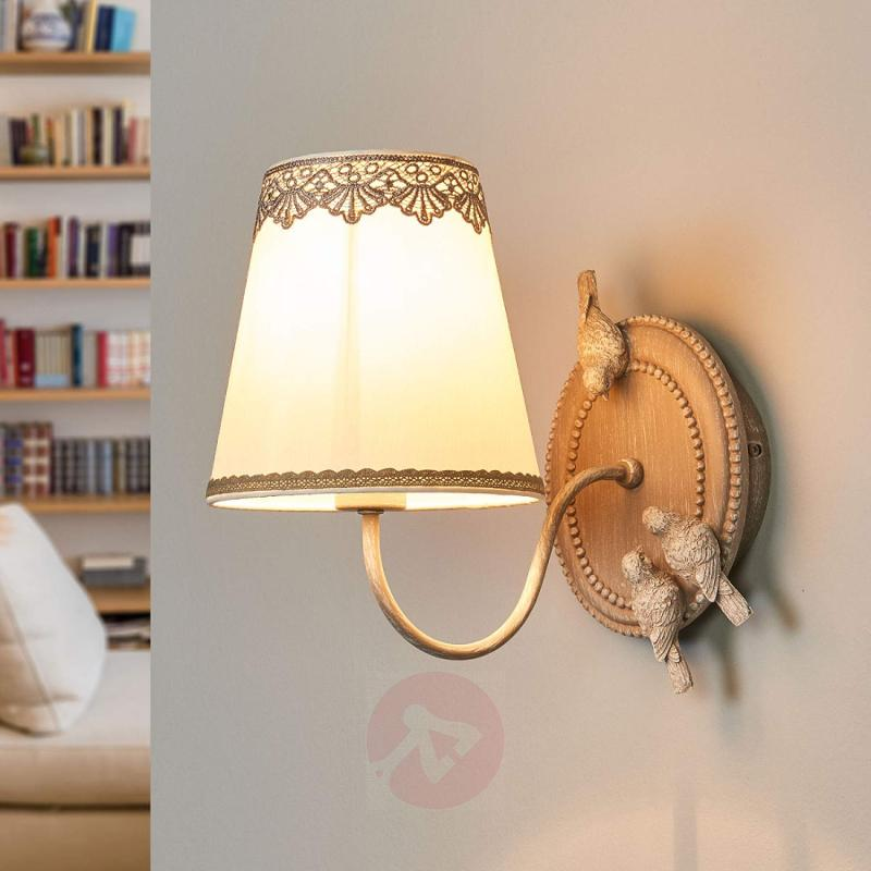 Bouquet - wall lamp with cute lace finish