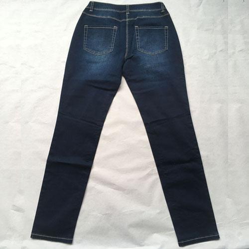 Jeans  Stonewashed blue denim trousers -