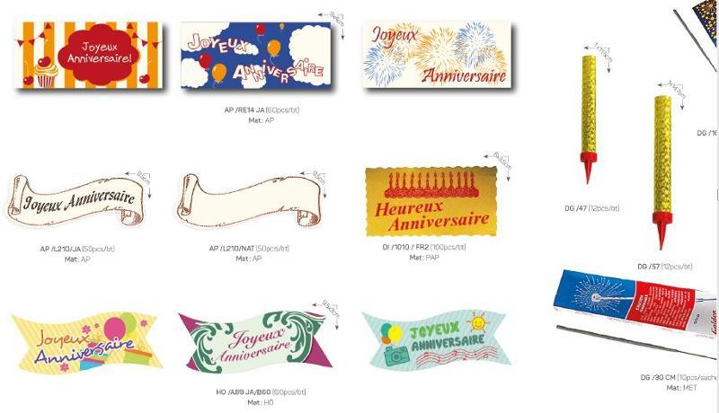 Celebration accessories - Decoration items