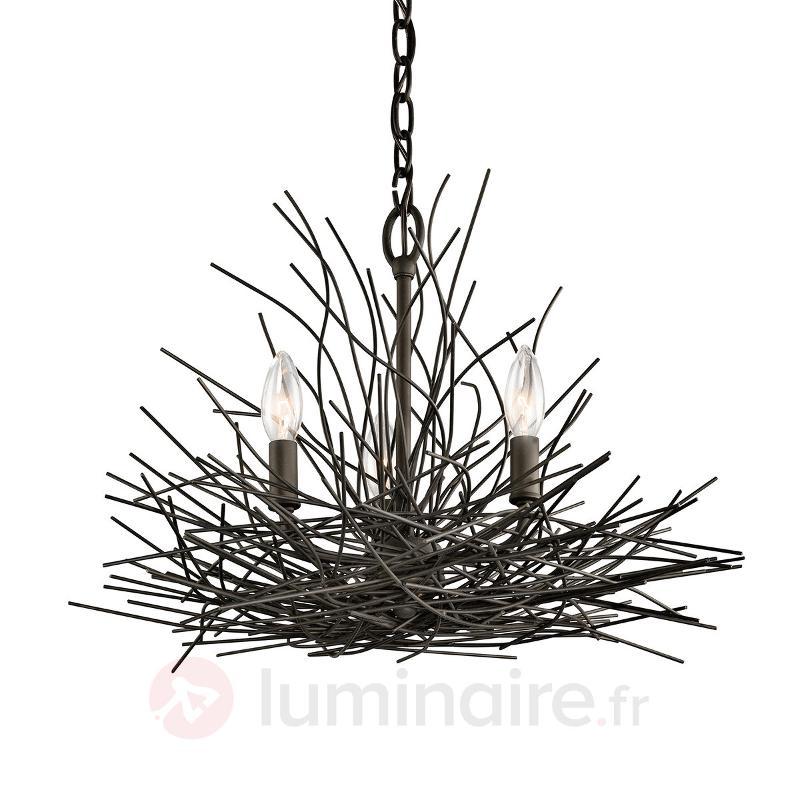 Lustre Organique couleur bronze. - Lustres designs, de style