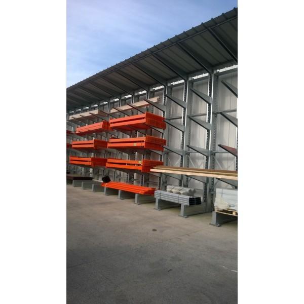 Rayonnage Cantilever - Rayonnage Cantilever Super Lourd : Galvanisé pour utilisation extérieure